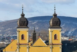 Twin spires, Piarist church, Trenčín
