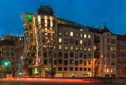 Iconic Dancing House, Prague
